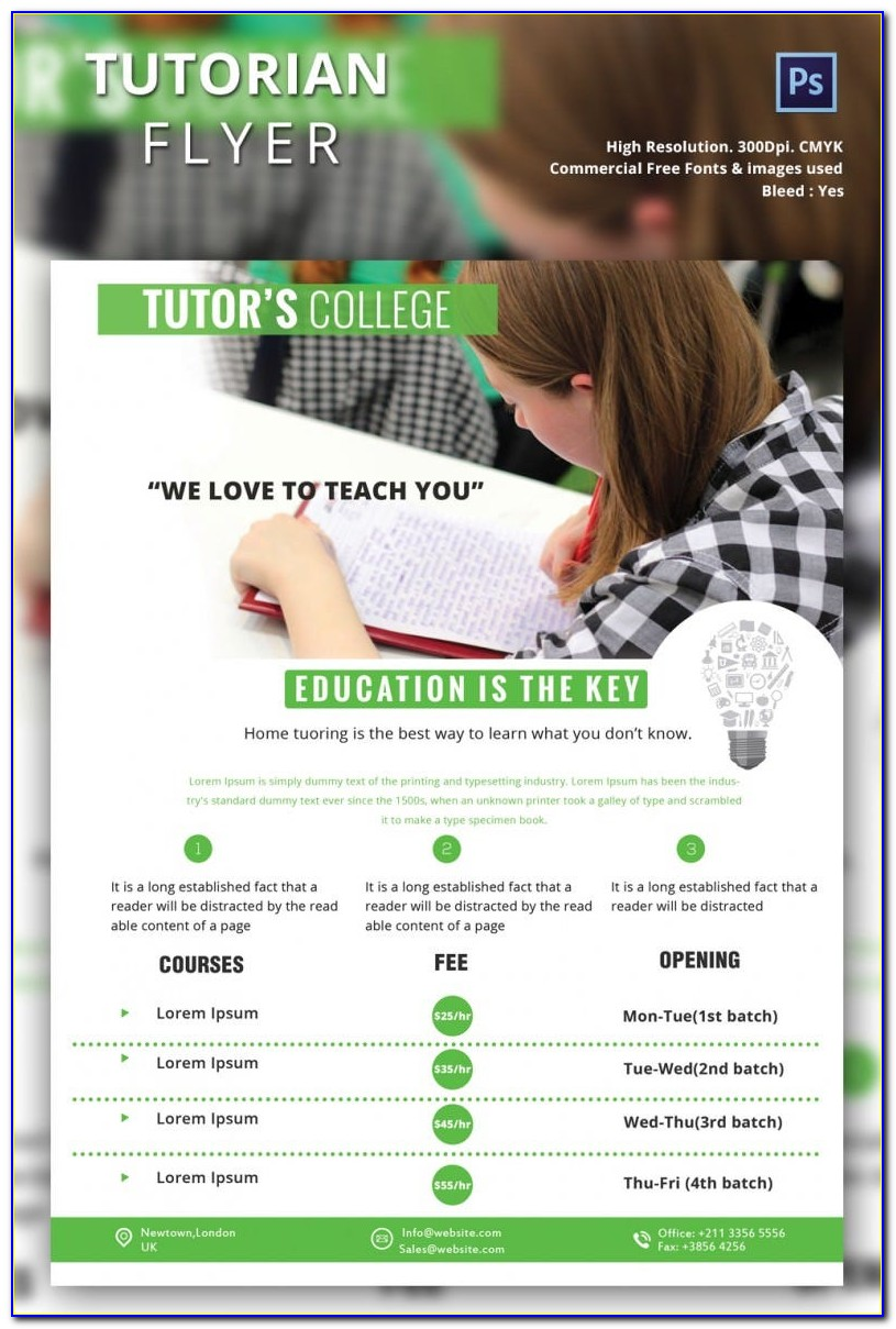 Free Flyer Templates For Tutoring Services