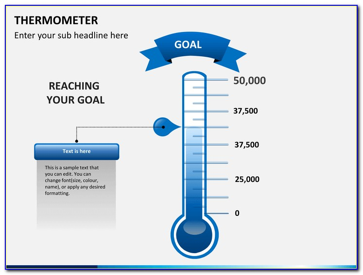 Free Fundraising Thermometer Template Powerpoint