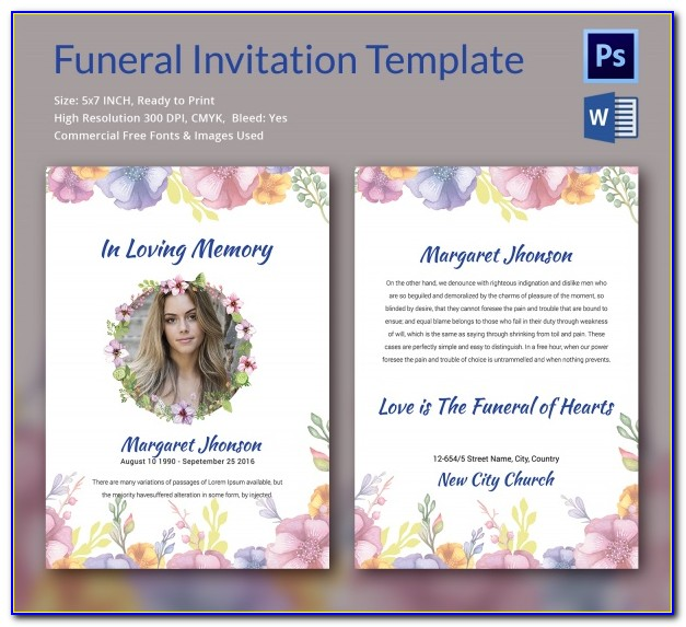 Free Funeral Home Program Templates