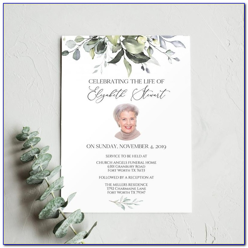 Free Funeral Obituary Programs Templates