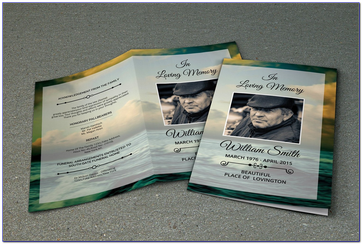 Free Funeral Program Template Psd
