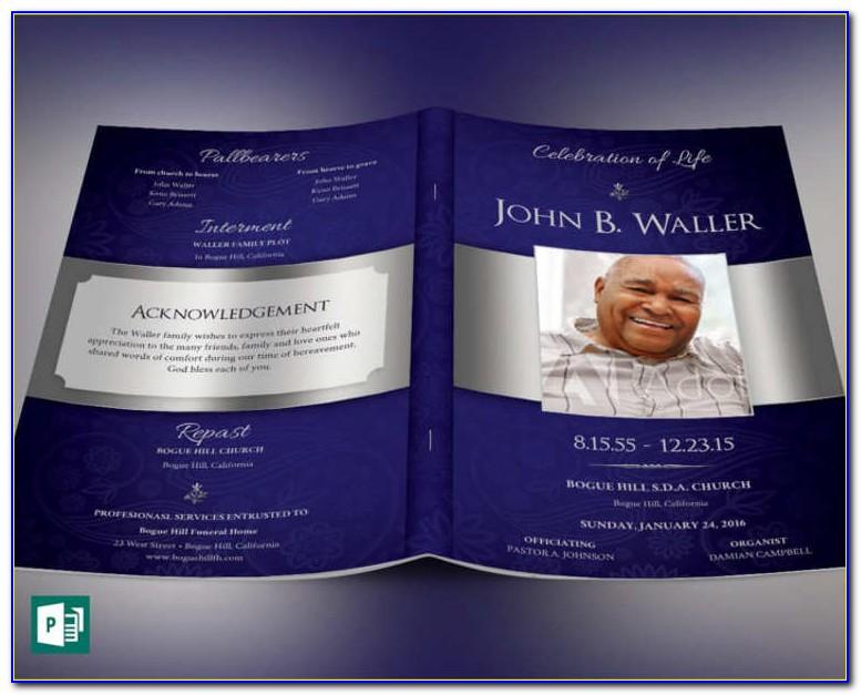 Free Funeral Program Template Tri Fold