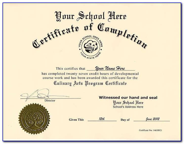 Free Ged Certificate Template Download