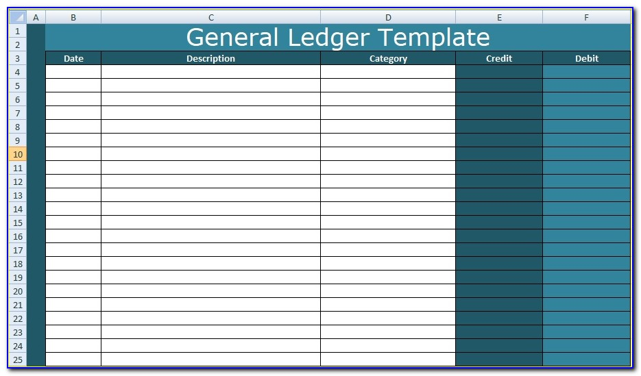 Free General Ledger Template Microsoft Excel