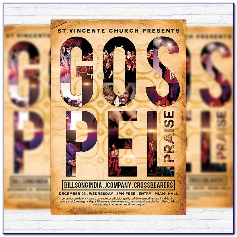 Free Gospel Flyer Template Psd