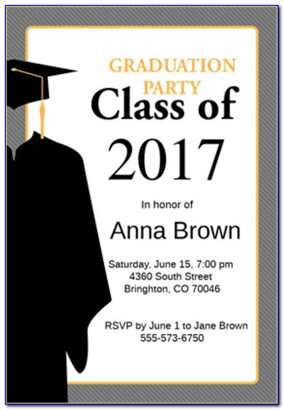 Free Graduation Announcement Templates For Word