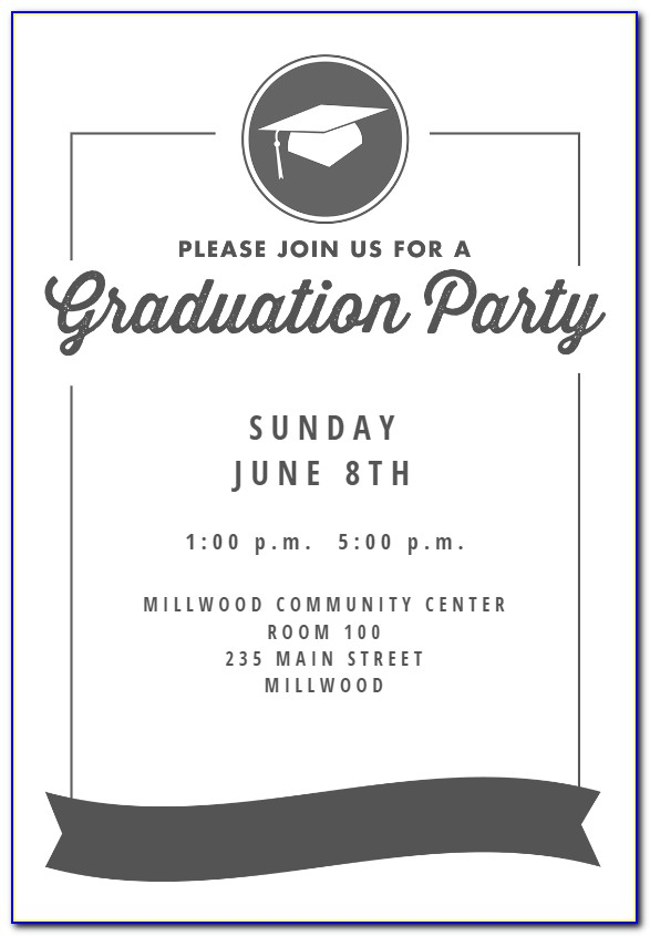 Free Graduation Ceremony Invitation Templates For Word
