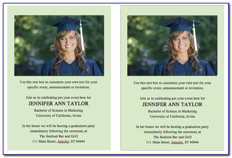 Free Graduation Invitation Template Microsoft Word