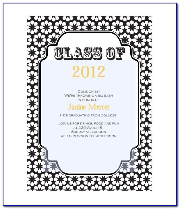 Free Graduation Invitation Templates Microsoft Word