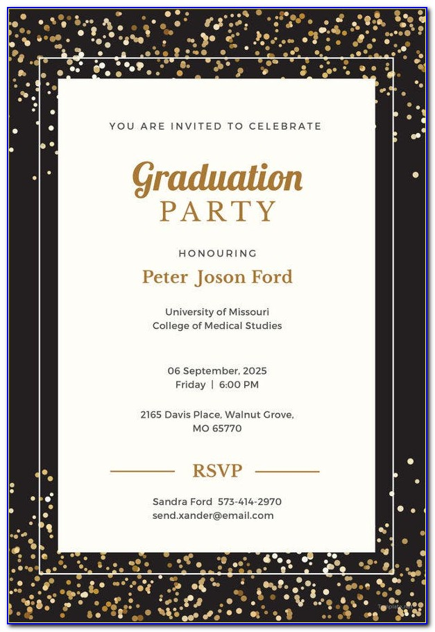 Free Graduation Party Invitation Templates 2015