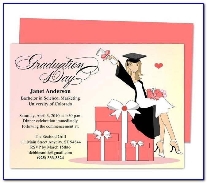 Free Graduation Party Invitation Templates For Photoshop