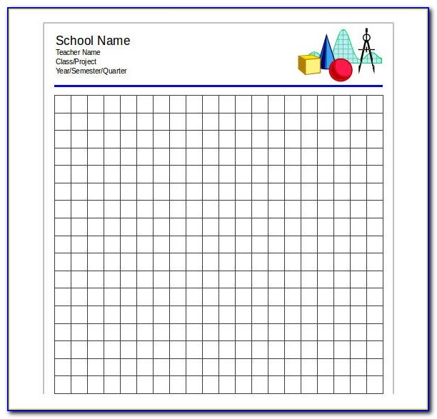 Free Graph Paper Template Excel