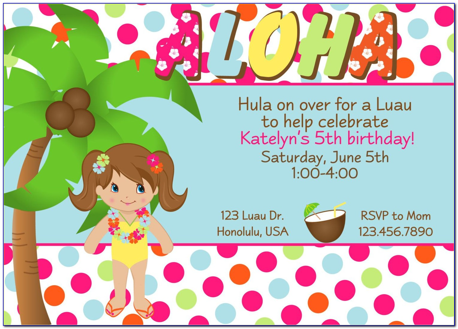 Free Hawaiian Wedding Invitation Templates