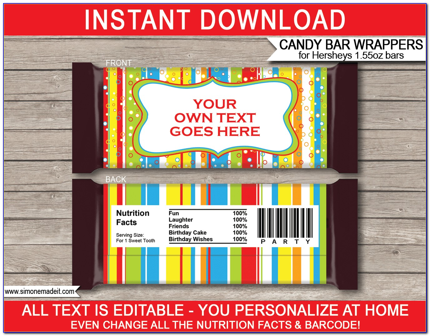 Free Hershey Candy Bar Wrapper Template Baby Shower