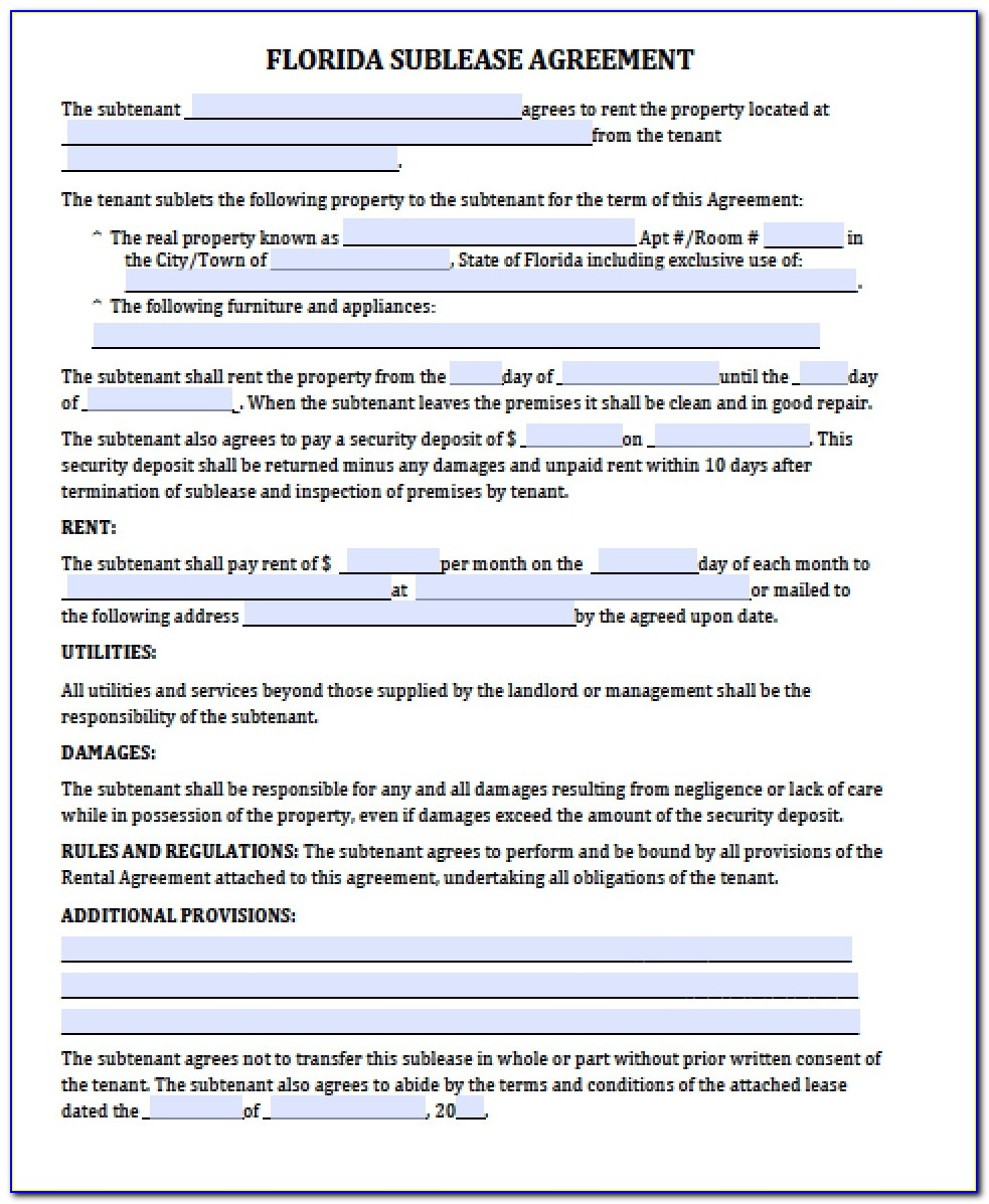 Free Lease Agreement Template California