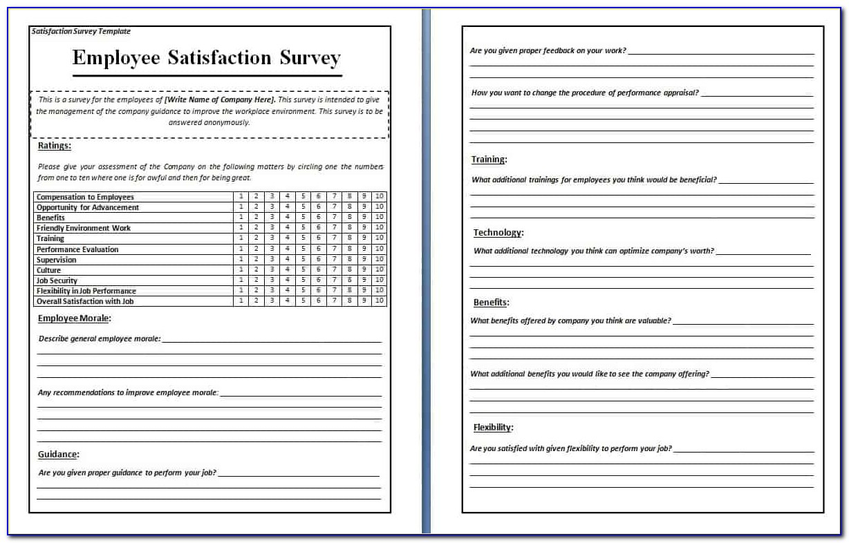 Free Microsoft Word Survey Template