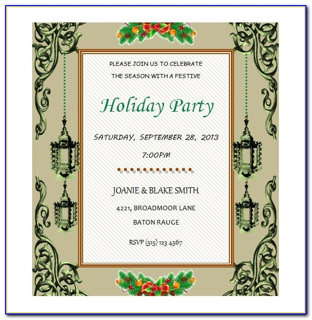 Free Microsoft Word Templates For Invitations