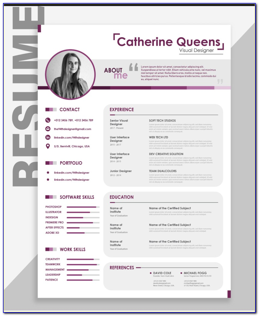 Free Modern Resume Template Docx