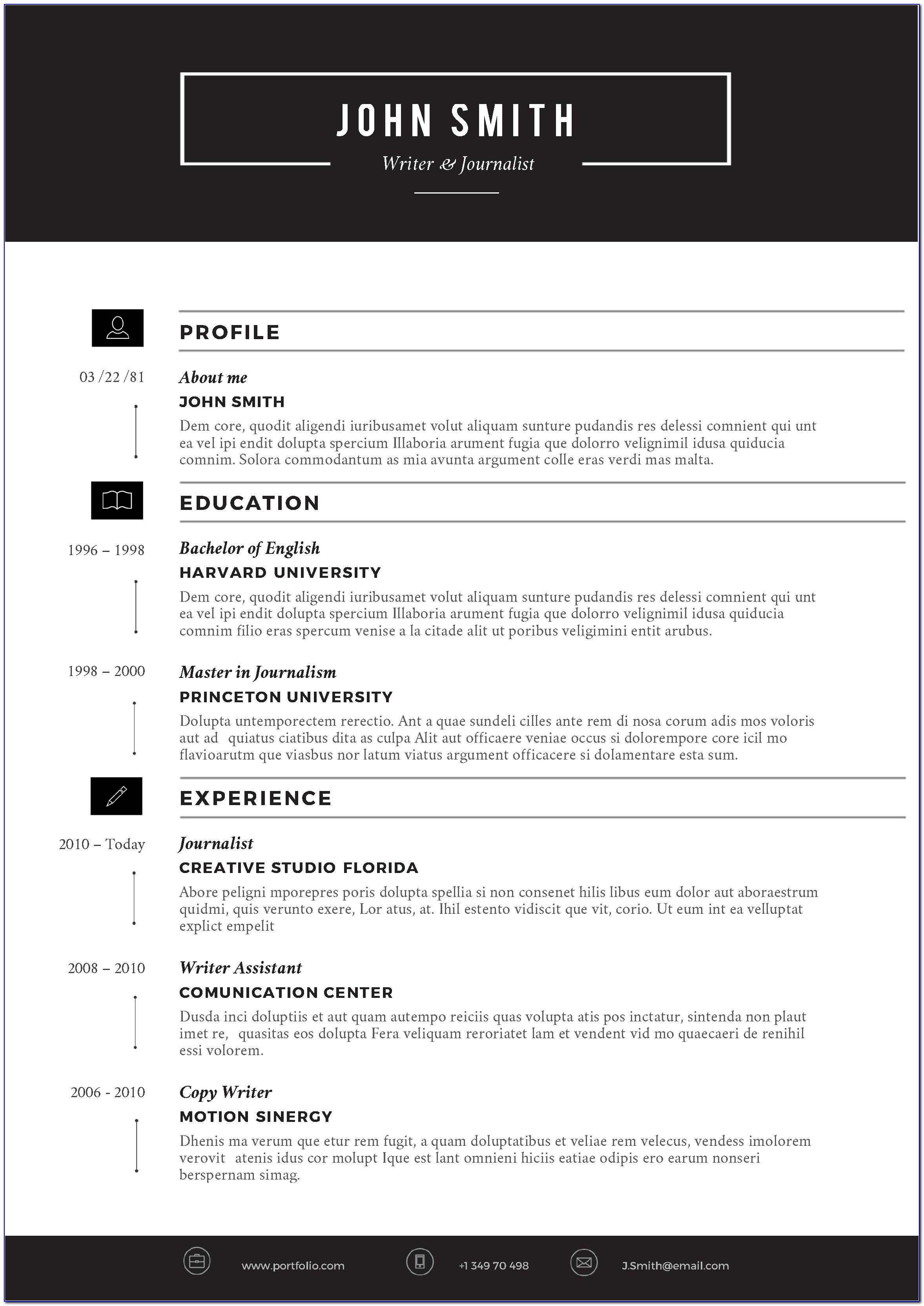 Free Online Resume Templates Printable