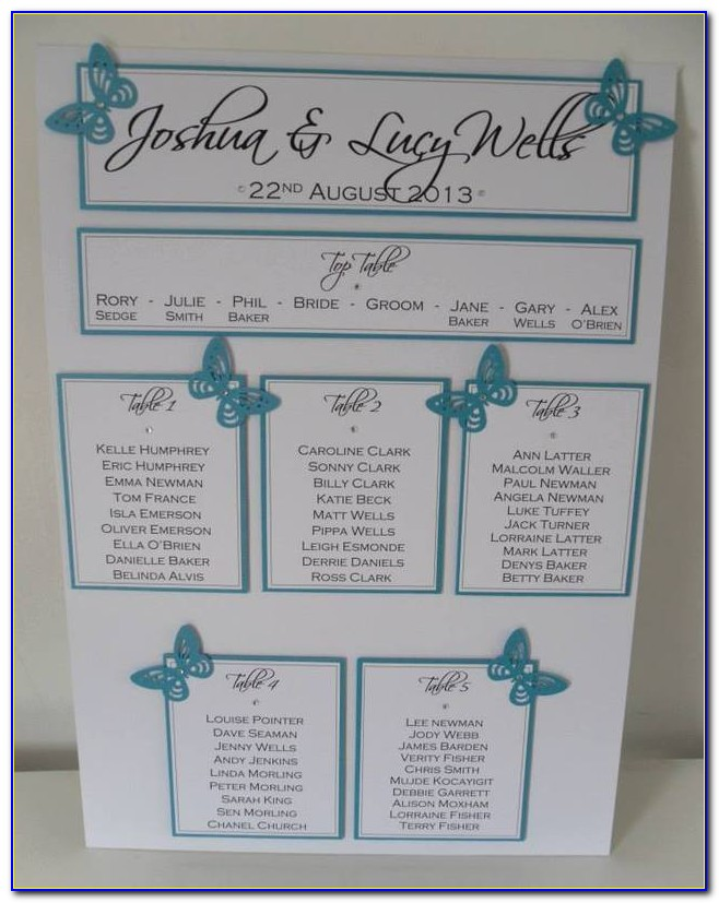 Free Online Wedding Seating Chart Maker