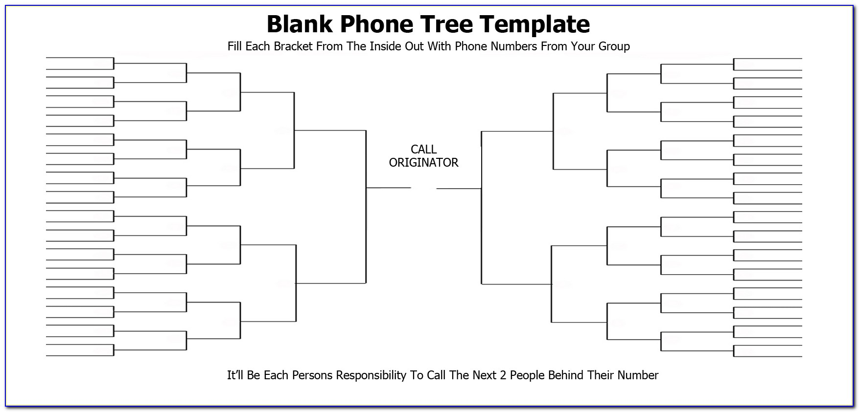 Free Phone Tree Template Word