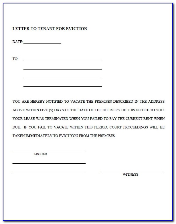 Free Printable 30 Day Eviction Notice Template