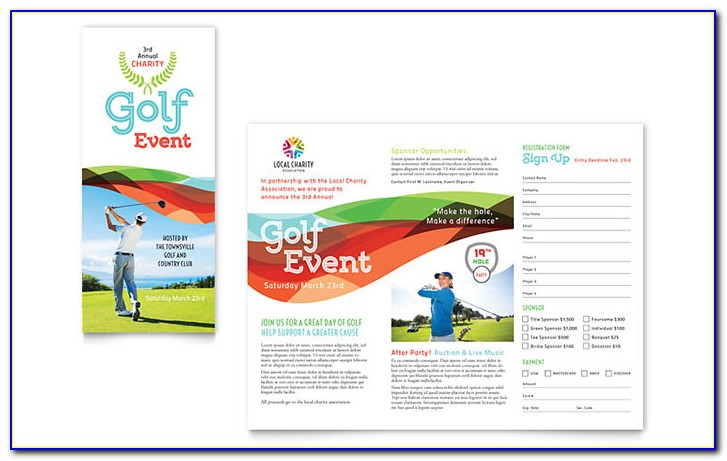 Free Printable Golf Tournament Flyer Template