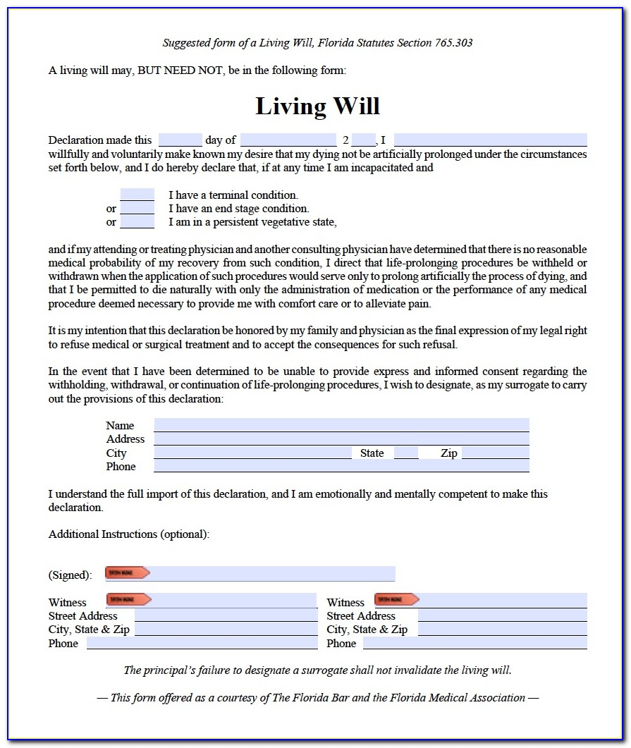Free Printable Health Care Directive Form Mn