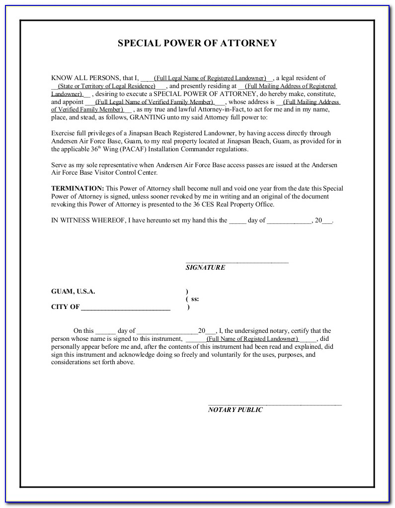 Free Printable Power Of Attorney Templates