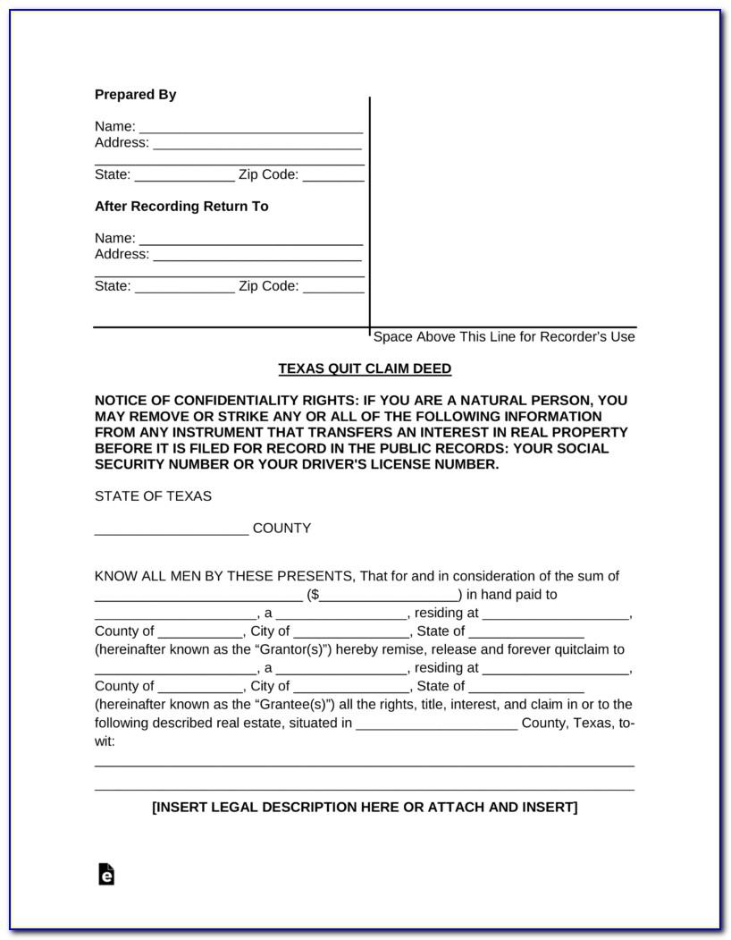 Free Printable Quit Claim Deed Form Georgia