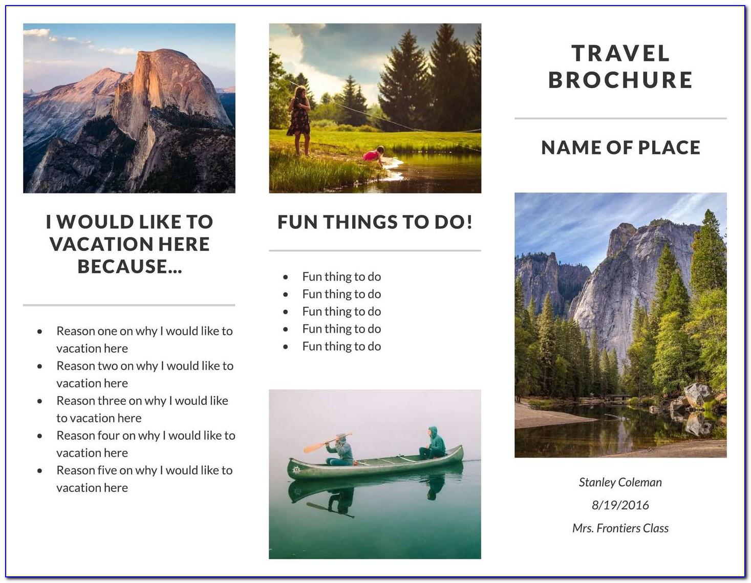 Free Printable Travel Flyer Template