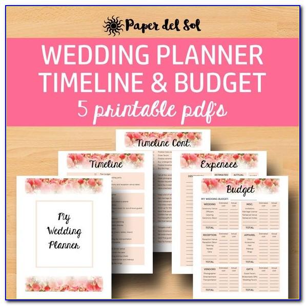 Free Printable Wedding Planning Checklist Pdf