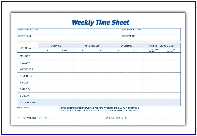 Free Printable Weekly Budget Planner Worksheet