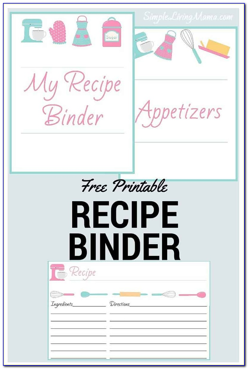 Free Recipe Binder Templates