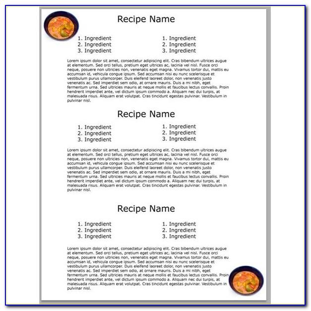 Free Recipe Card Maker Template