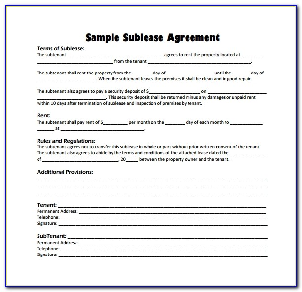 Free Rental Lease Agreement California Template