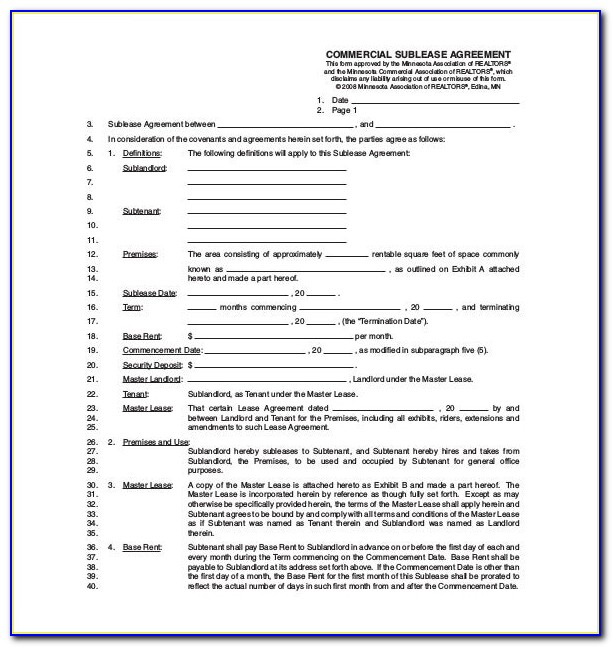 Free Residential Lease Agreement Template California