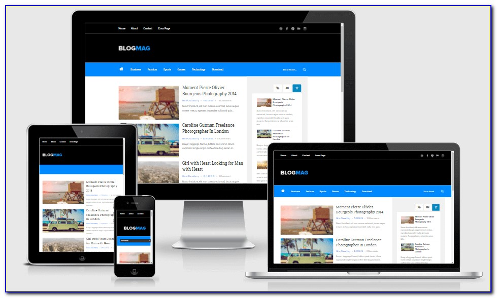 Free Responsive Muse Template