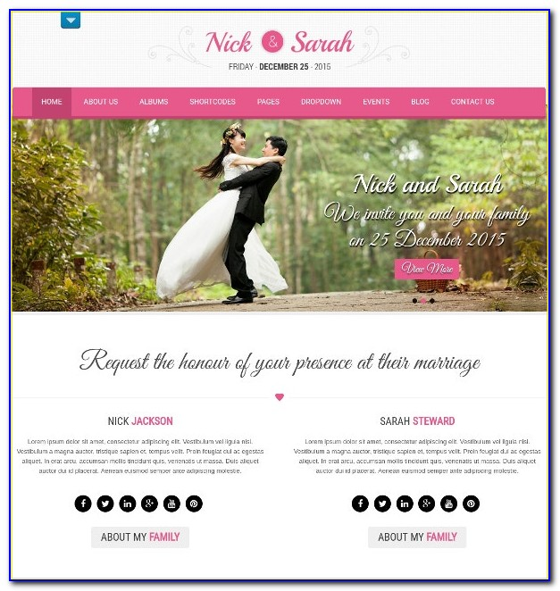 Free Responsive Wedding Website Templates Download Html And Css