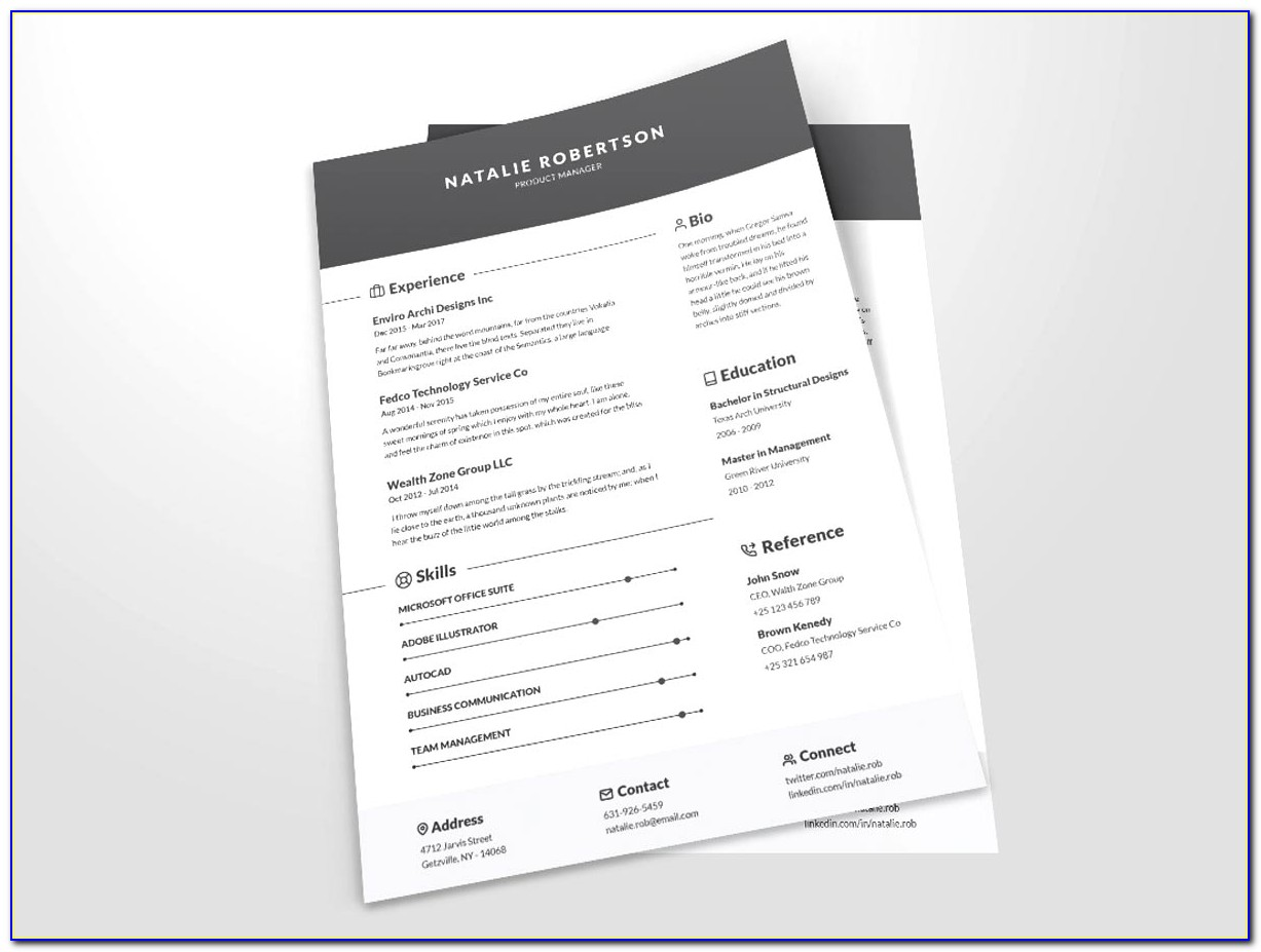 Free Resume Format Docx