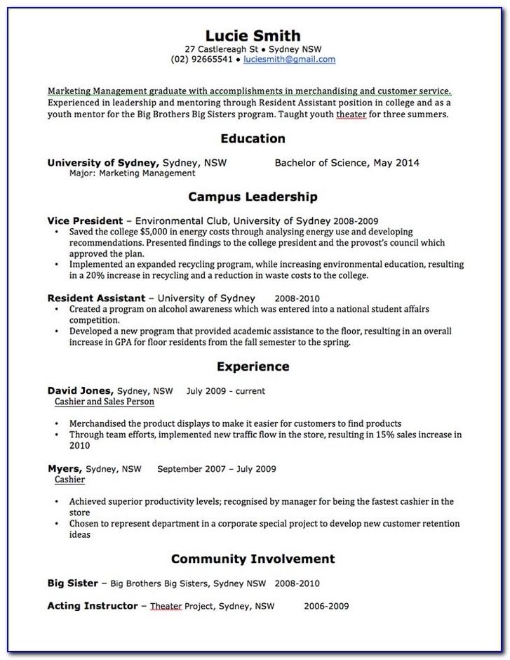Free Resume Template Australia 2017