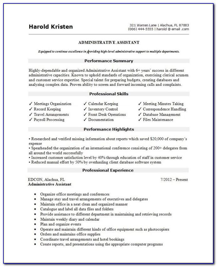 Free Resume Template Australia