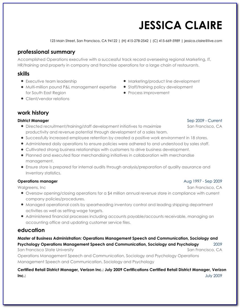 Free Resume Template Builder