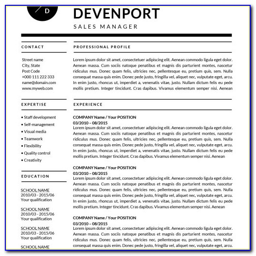 Free Resume Template Doc Download