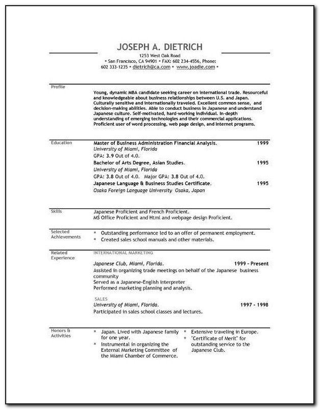 Free Resume Template Download Mac