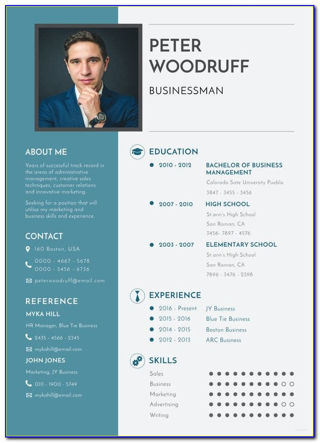 Free Resume Template Download Open Office