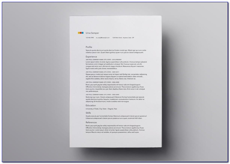 Free Resume Template Downloads Pdf