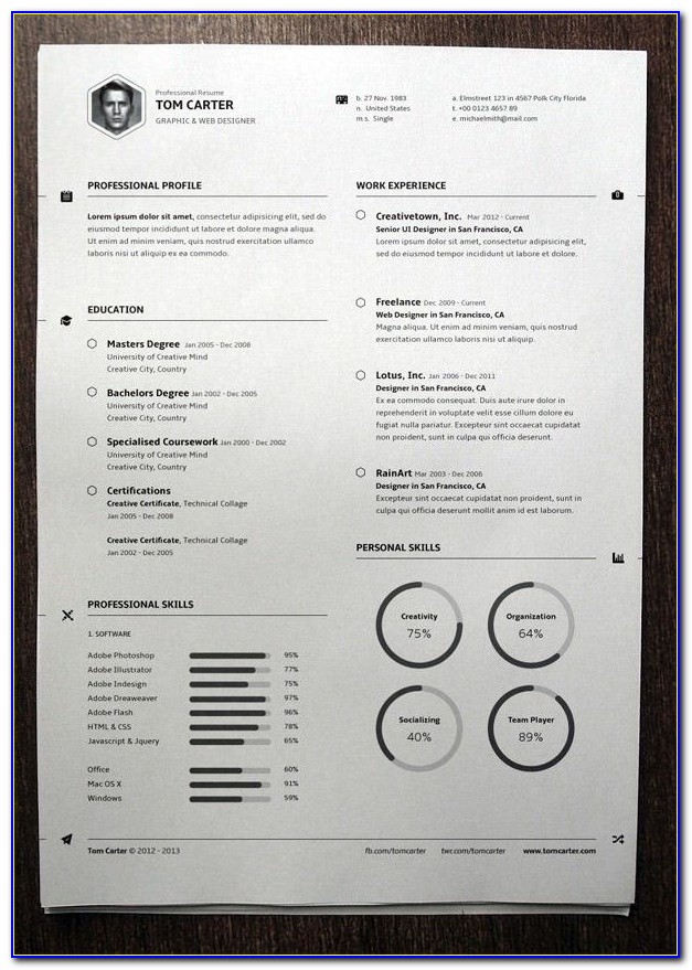 Free Resume Template Engineer