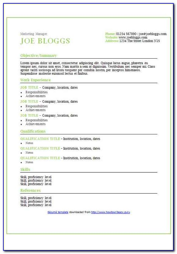 Free Resume Template For Indesign Vitae Cv