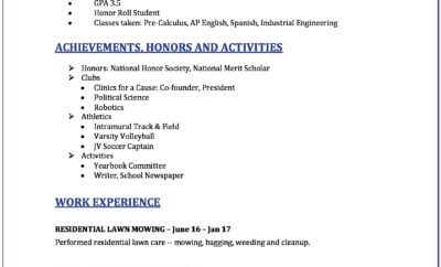 Free Resume Template In Word Download